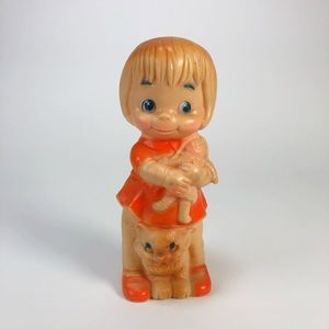 Vintage Little Girl Squeak Toy